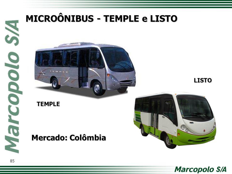 MICROÔNIBUS - TEMPLE e LISTO