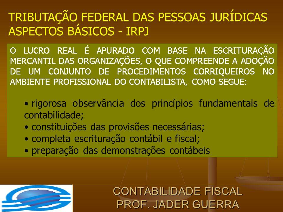 CONTABILIDADE FISCAL PROF. JADER GUERRA