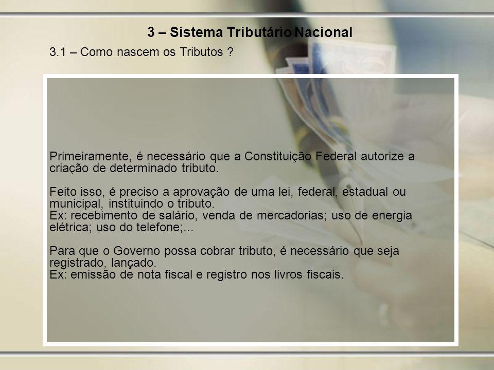 3 – Sistema Tributário Nacional