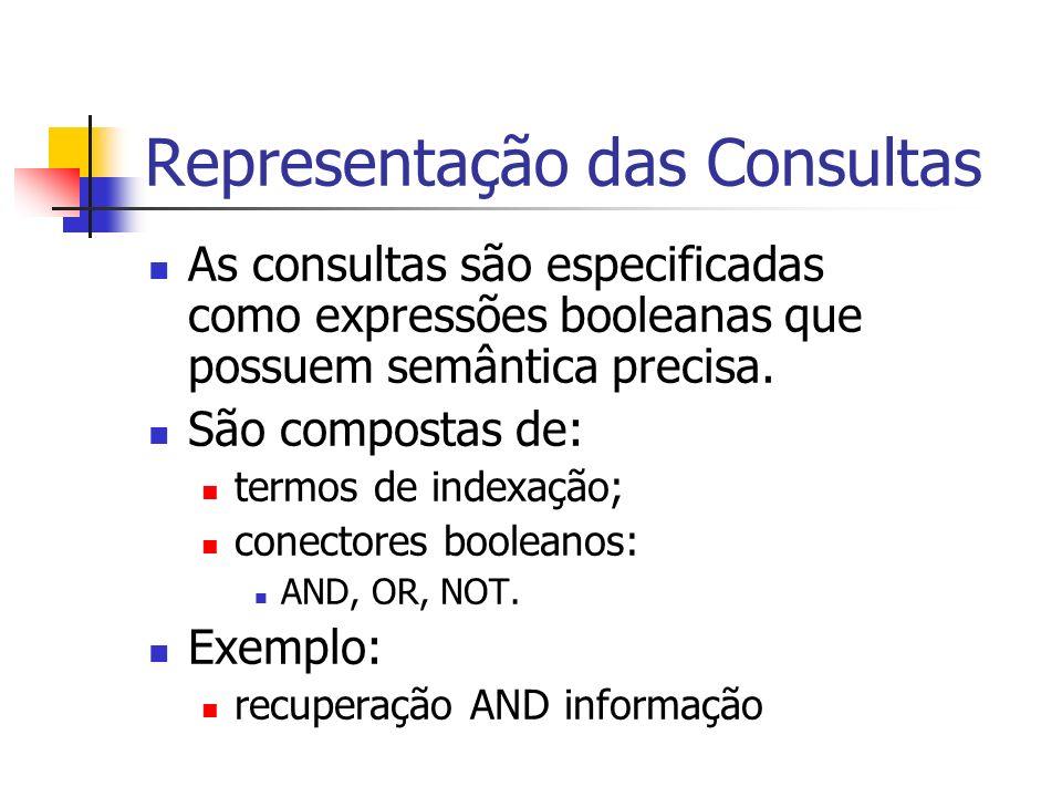 Representação das Consultas