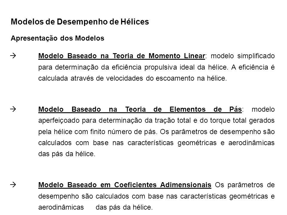 Modelos de Desempenho de Hélices