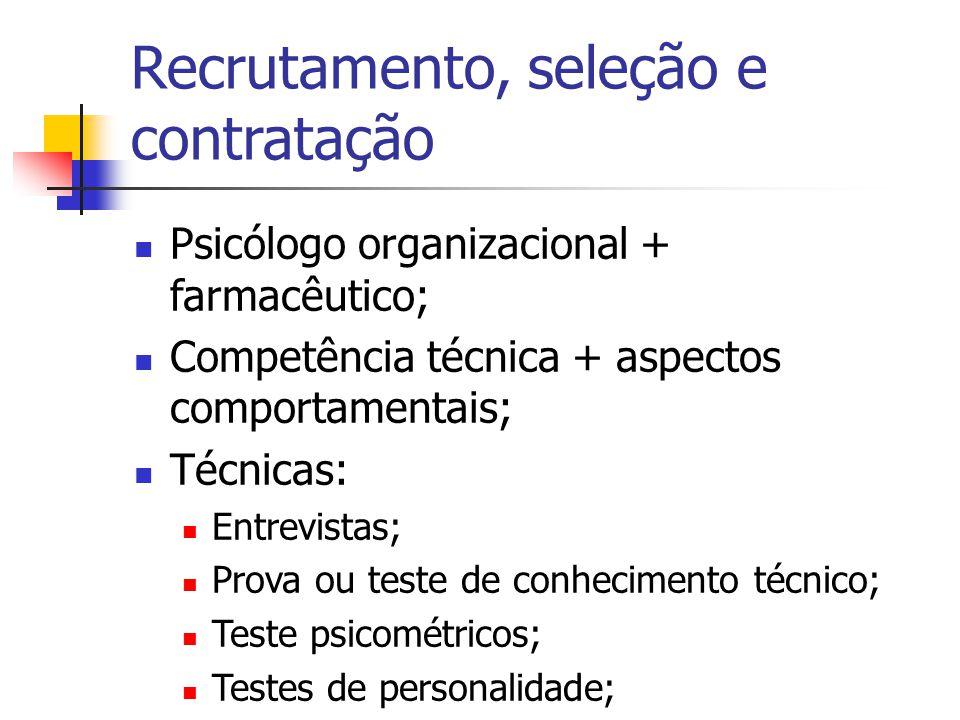 Recrutamento, seleção e contratação