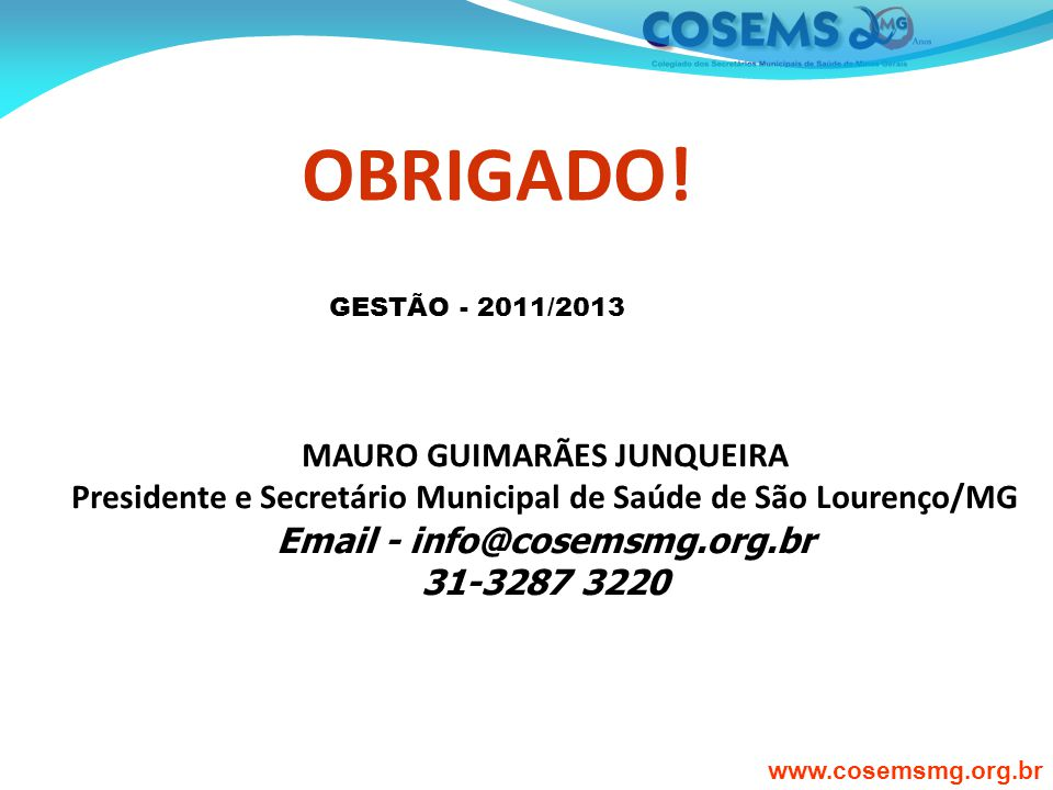 Email - info@cosemsmg.org.br