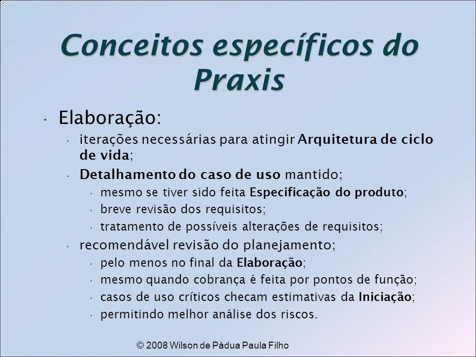 Conceitos específicos do Praxis
