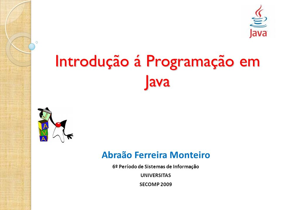 Introdução á Programação em Java