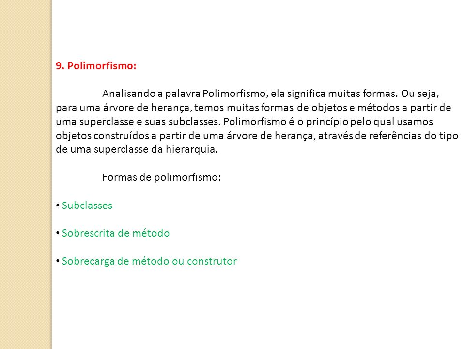 9. Polimorfismo: