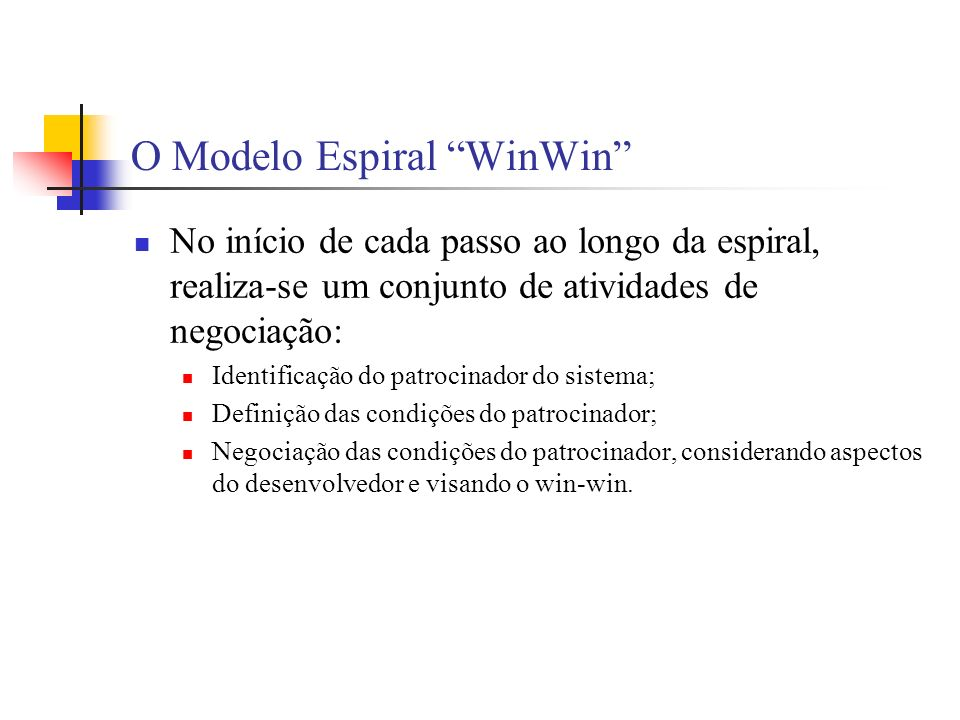 O Modelo Espiral WinWin