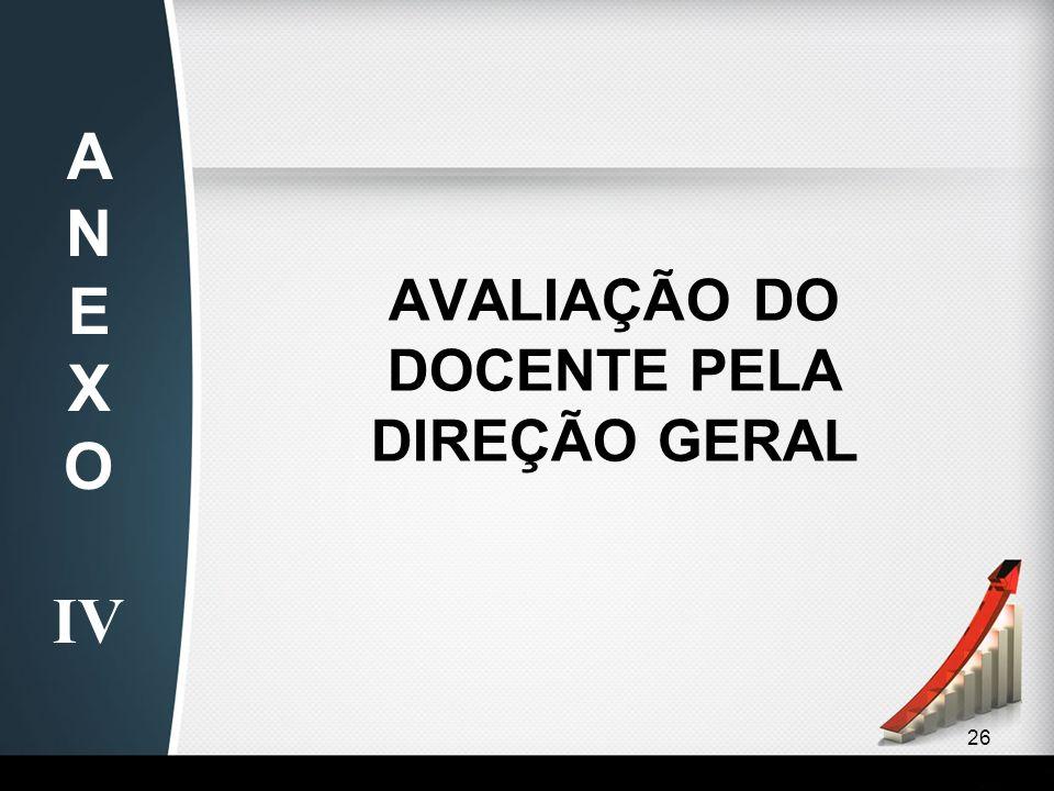 AVALIAÇÃO DO DOCENTE PELA DIREÇÃO GERAL