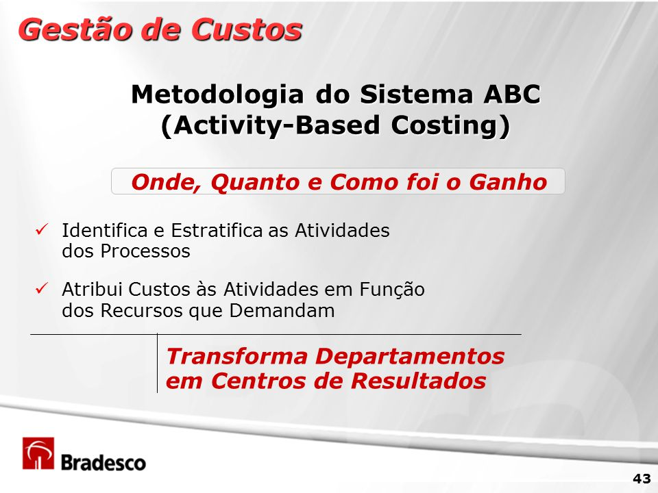 Metodologia do Sistema ABC (Activity-Based Costing)