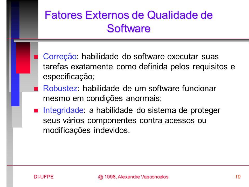 Fatores Externos de Qualidade de Software