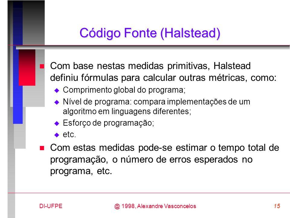 Código Fonte (Halstead)