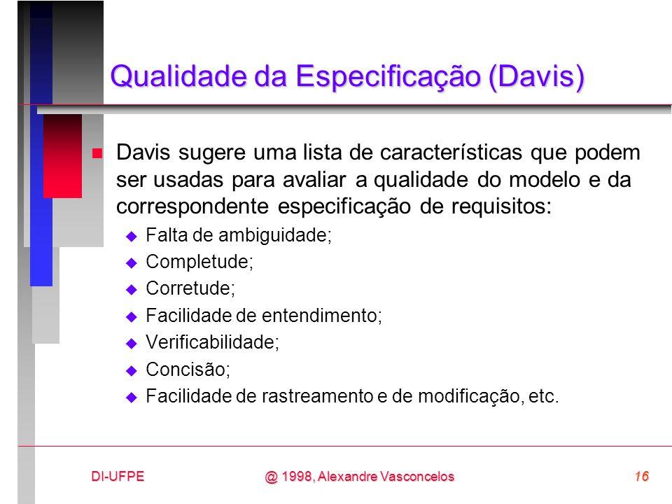 Qualidade da Especificação (Davis)