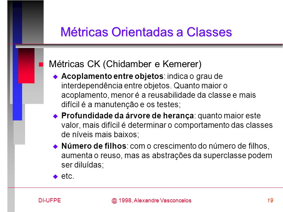 Métricas Orientadas a Classes