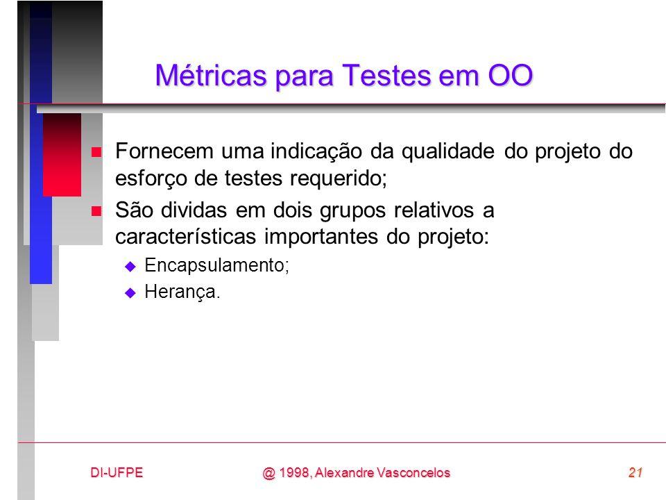 Métricas para Testes em OO