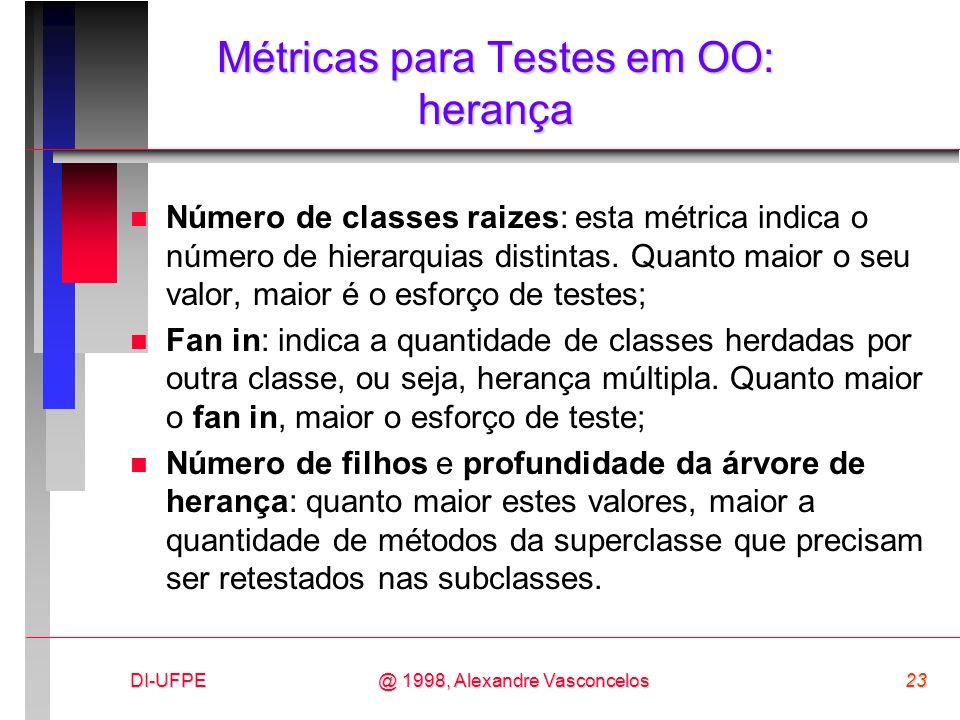 Métricas para Testes em OO: herança