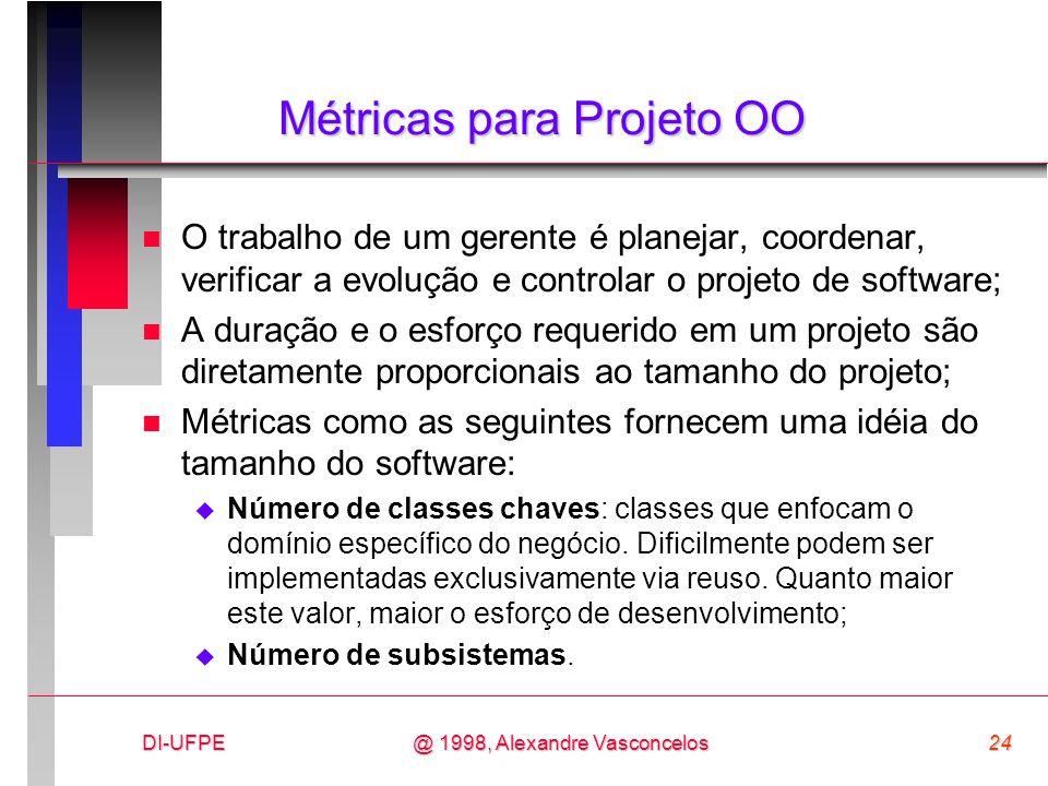 Métricas para Projeto OO