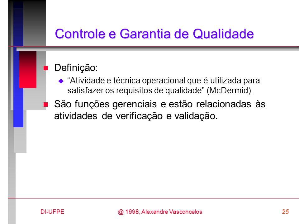 Controle e Garantia de Qualidade