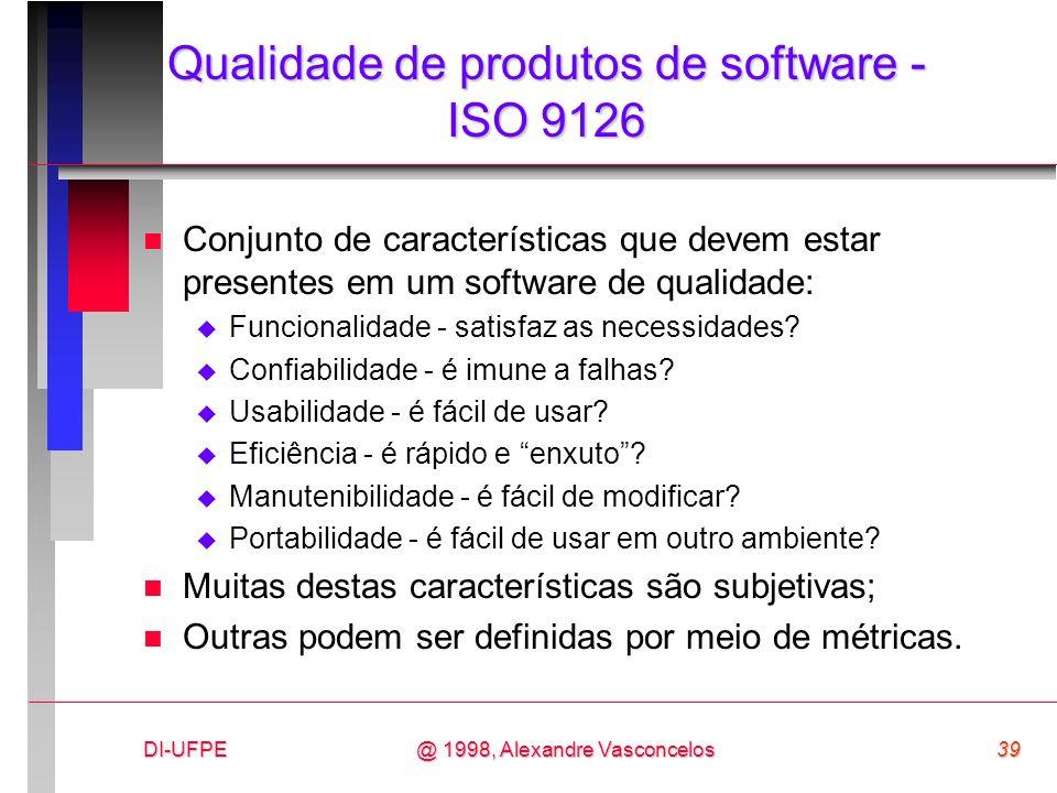 Qualidade de produtos de software - ISO 9126