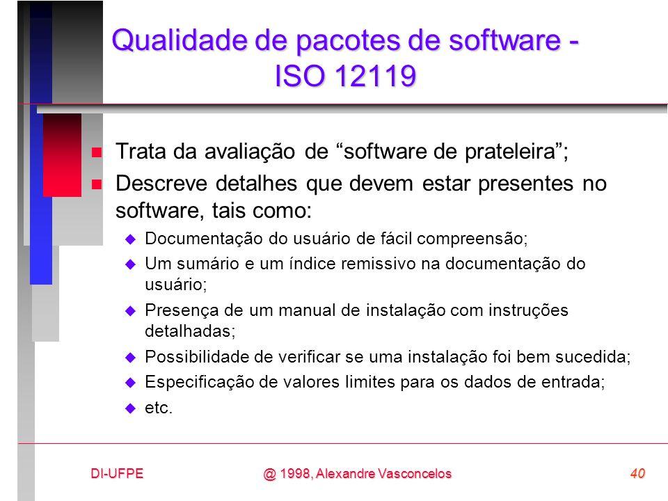 Qualidade de pacotes de software - ISO 12119