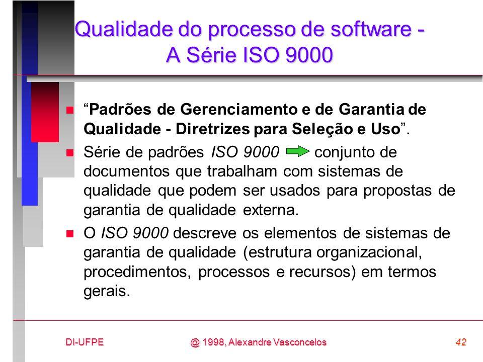 Qualidade do processo de software - A Série ISO 9000