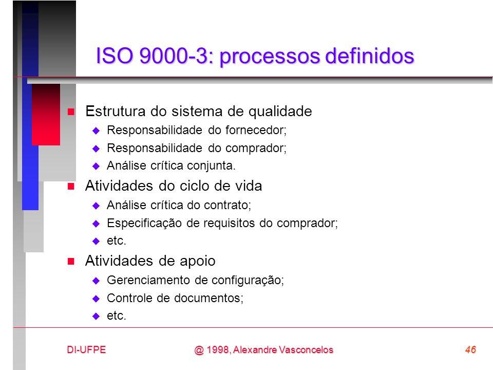 ISO 9000-3: processos definidos