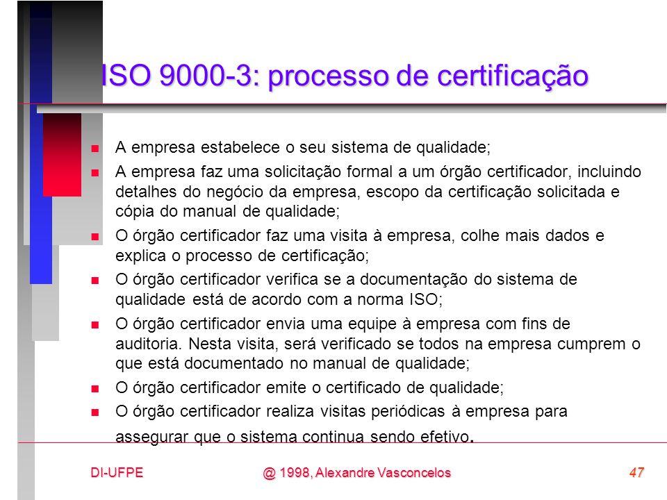 ISO 9000-3: processo de certificação