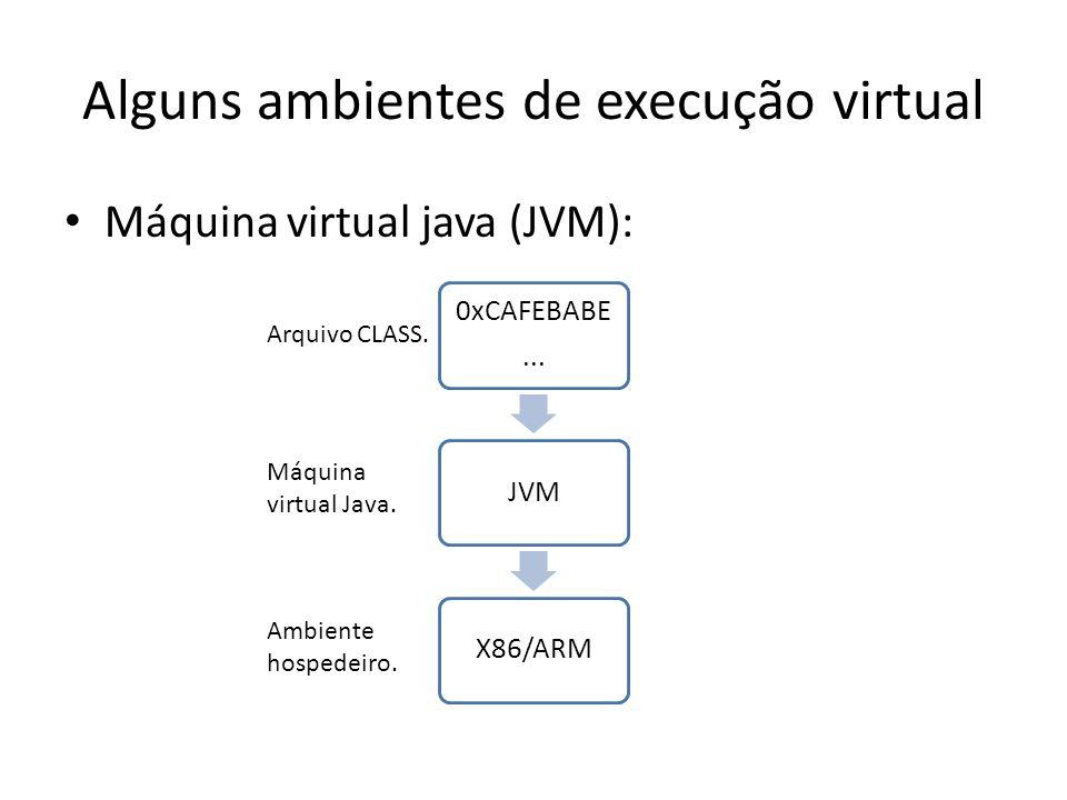 Alguns ambientes de execução virtual