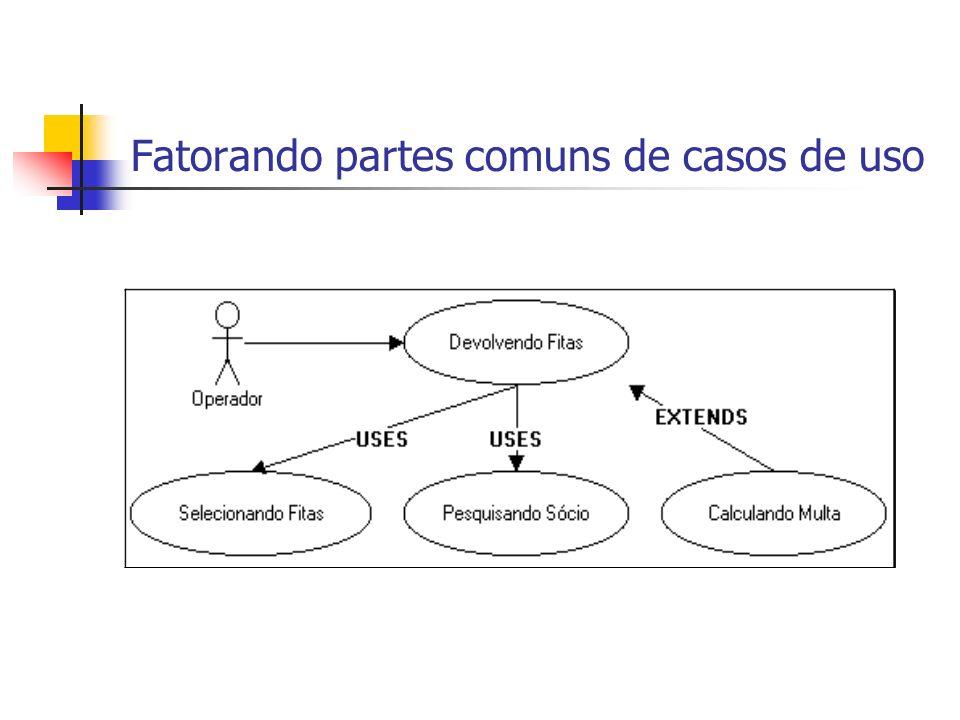 Fatorando partes comuns de casos de uso