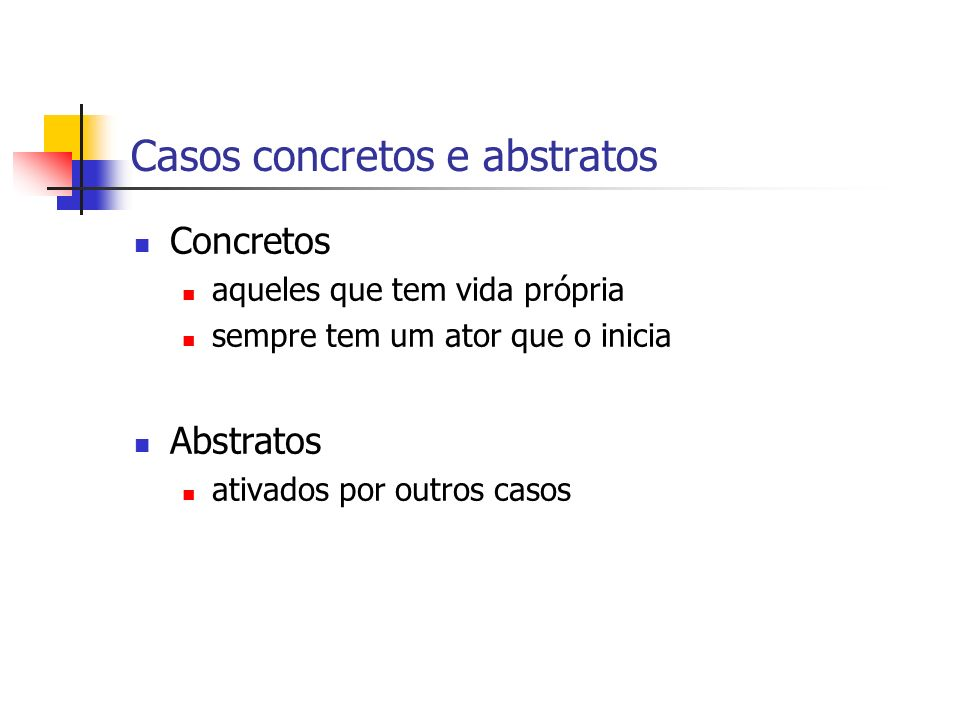 Casos concretos e abstratos