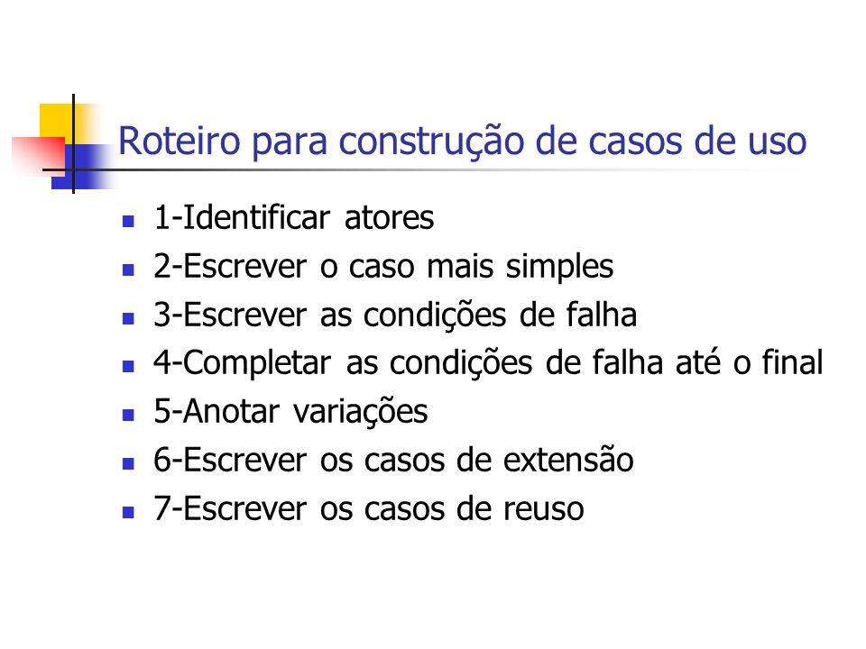 Roteiro para construção de casos de uso