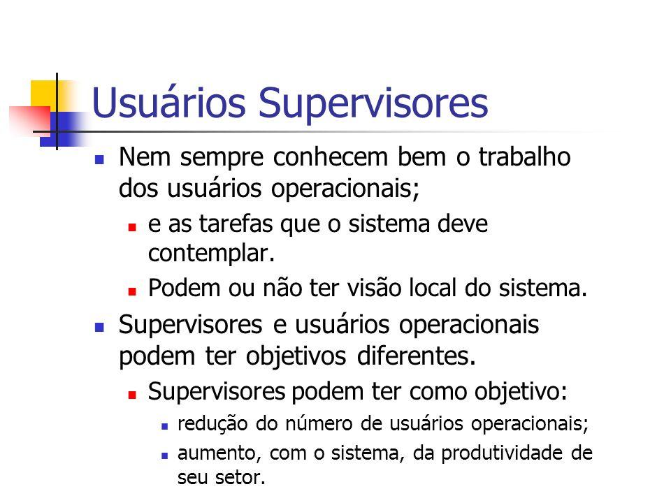 Usuários Supervisores