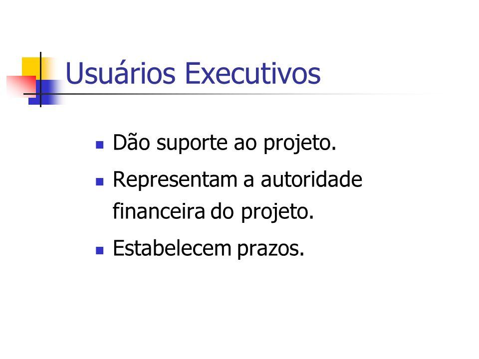 Usuários Executivos Dão suporte ao projeto.