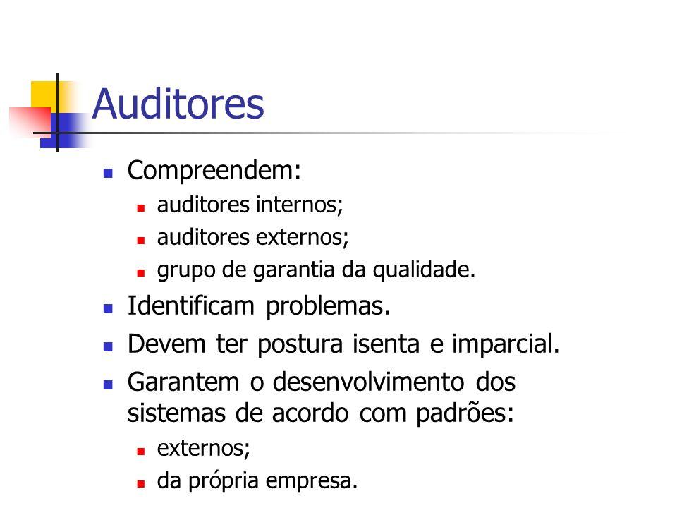 Auditores Compreendem: Identificam problemas.