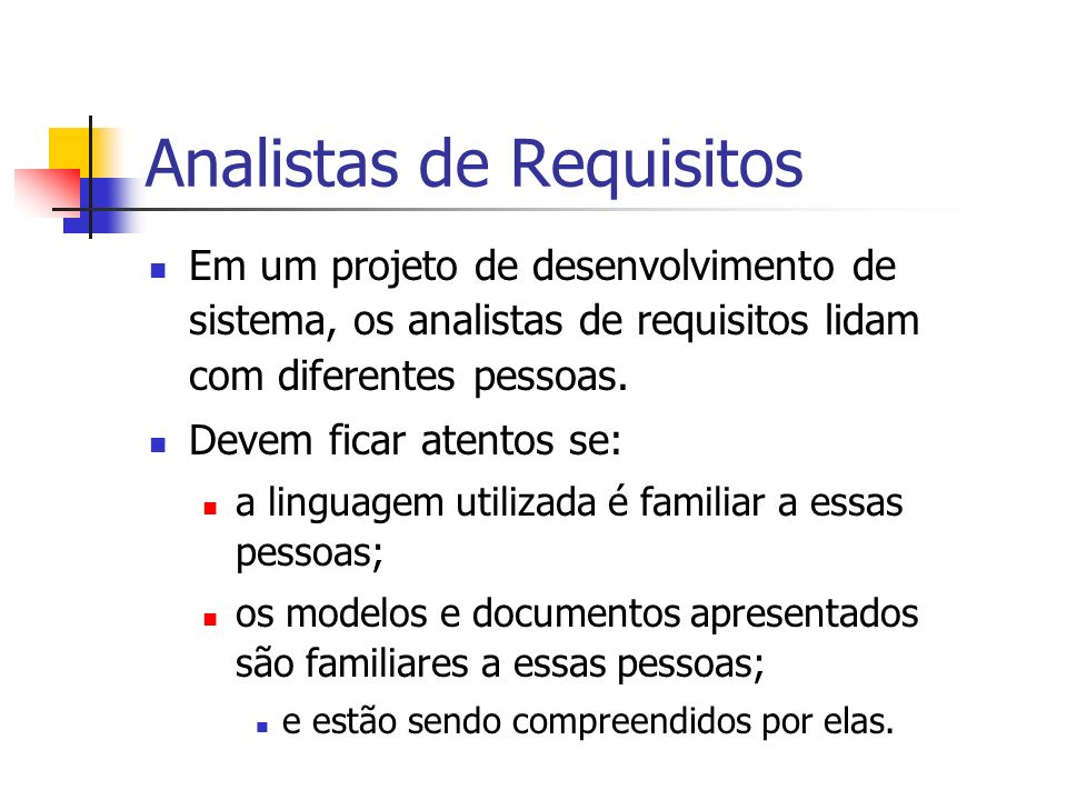 Analistas de Requisitos