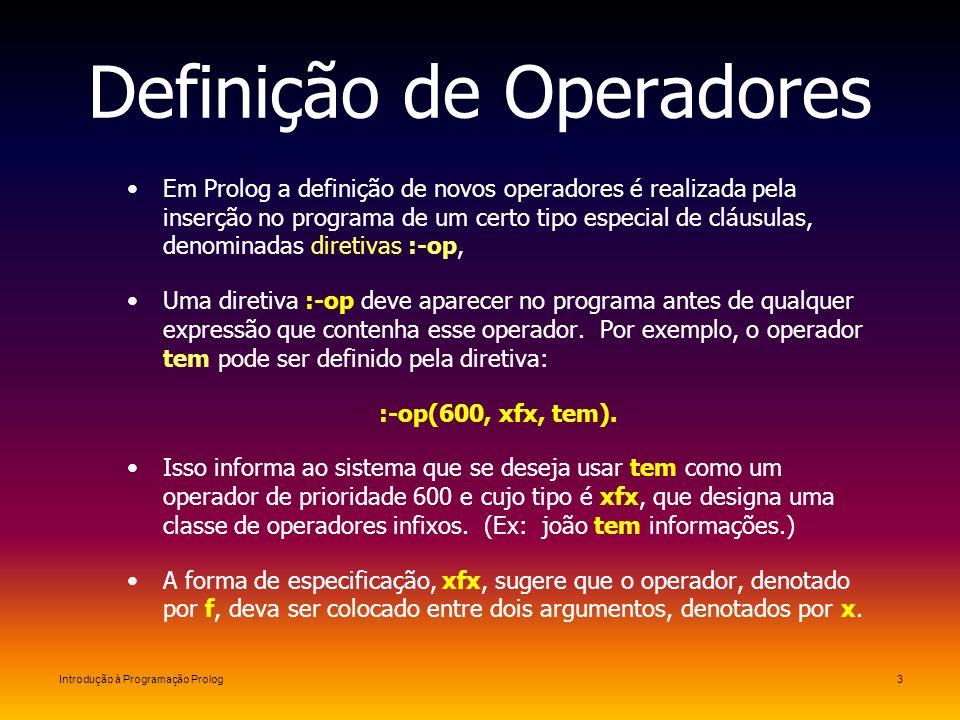 Definição de Operadores