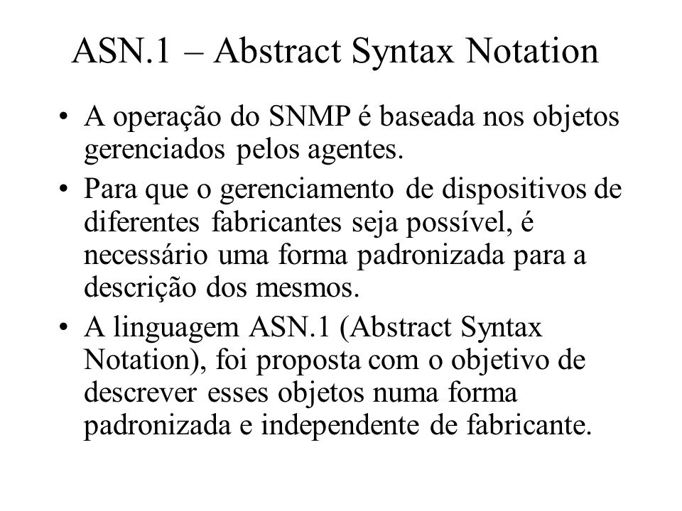 ASN.1 – Abstract Syntax Notation