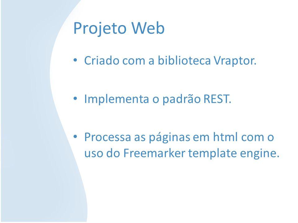 Projeto Web Criado com a biblioteca Vraptor. Implementa o padrão REST.