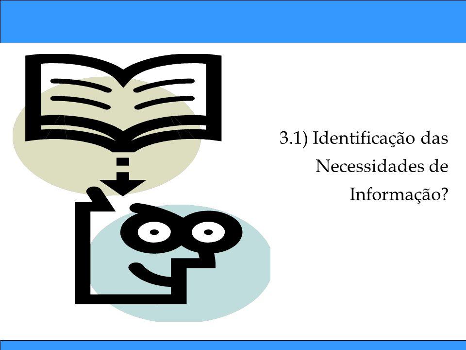 3.1) Identificação das Necessidades de Informação