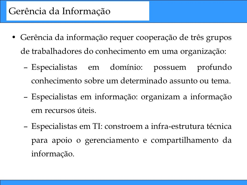 Gerência da Informação