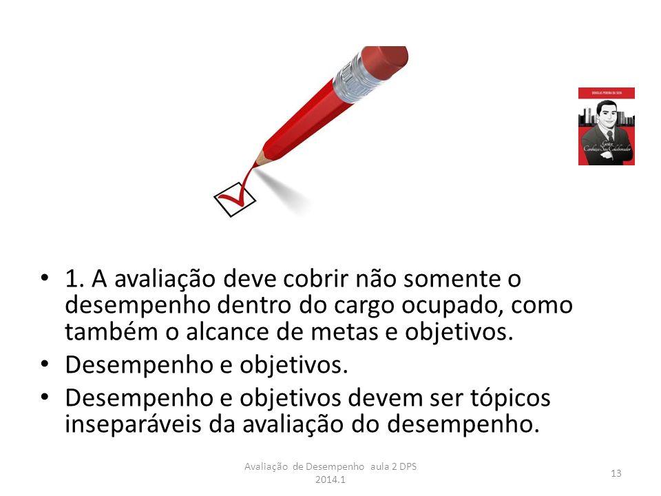 Avaliação de Desempenho aula 2 DPS 2014.1