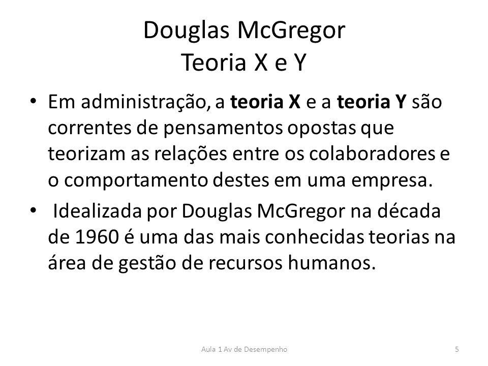 Douglas McGregor Teoria X e Y