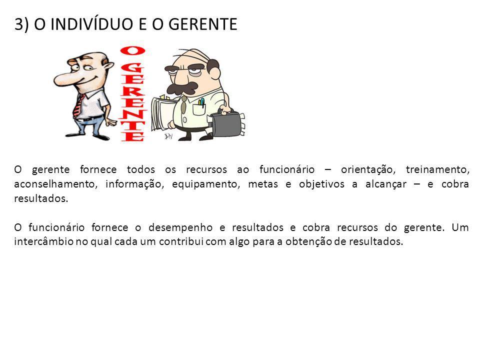 3) O INDIVÍDUO E O GERENTE