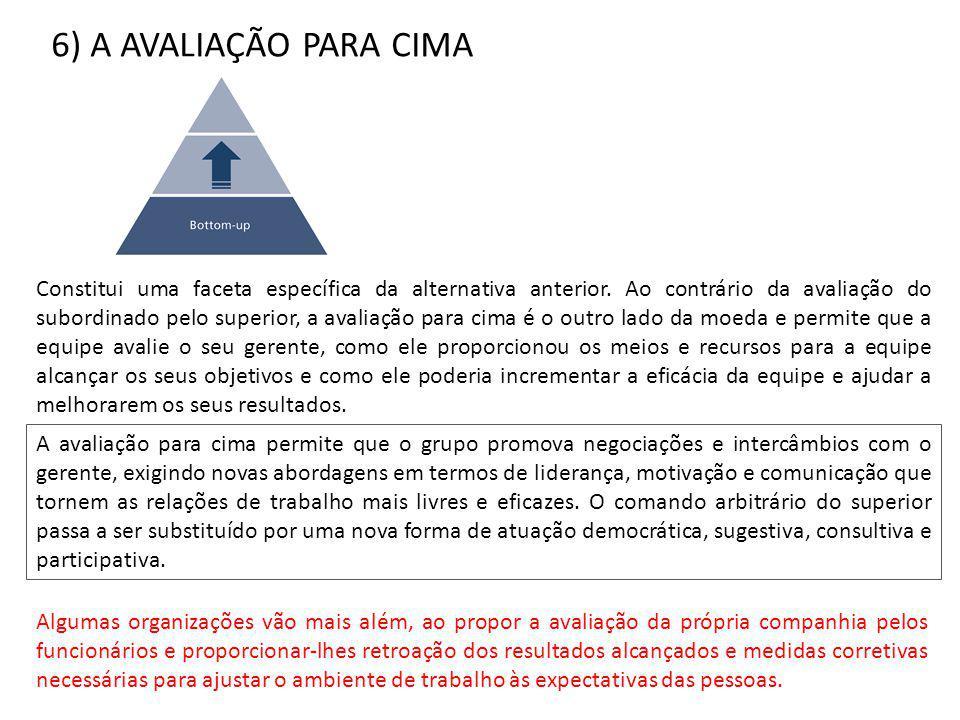 6) A AVALIAÇÃO PARA CIMA