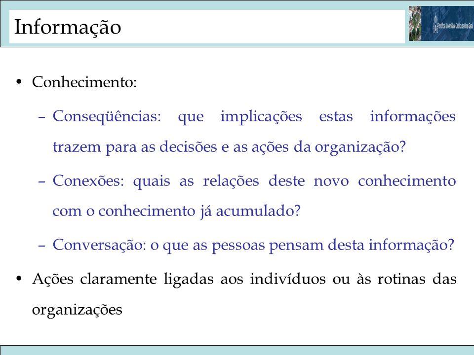 Informação Conhecimento: