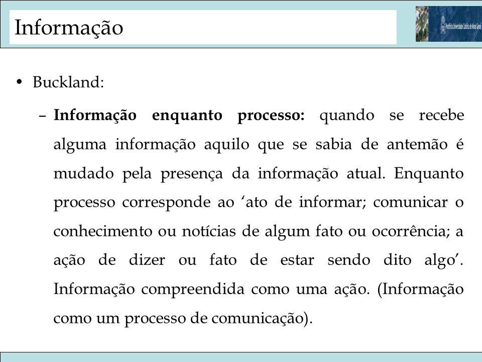 Informação Buckland: