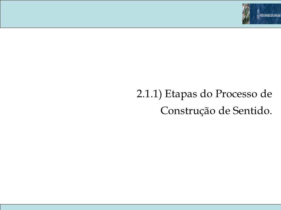 2.1.1) Etapas do Processo de Construção de Sentido.