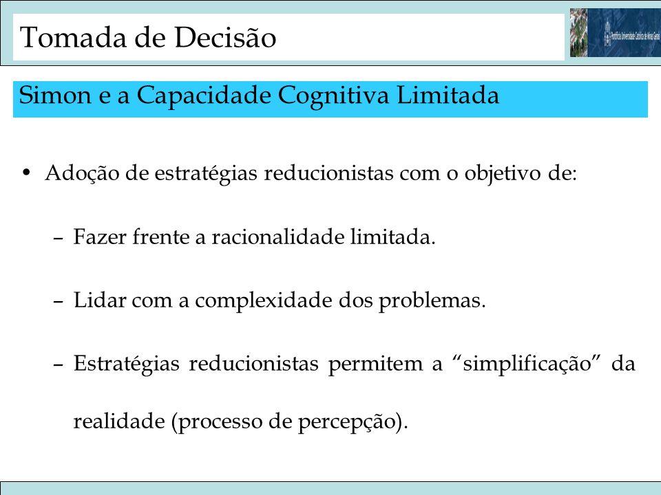 Tomada de Decisão Simon e a Capacidade Cognitiva Limitada