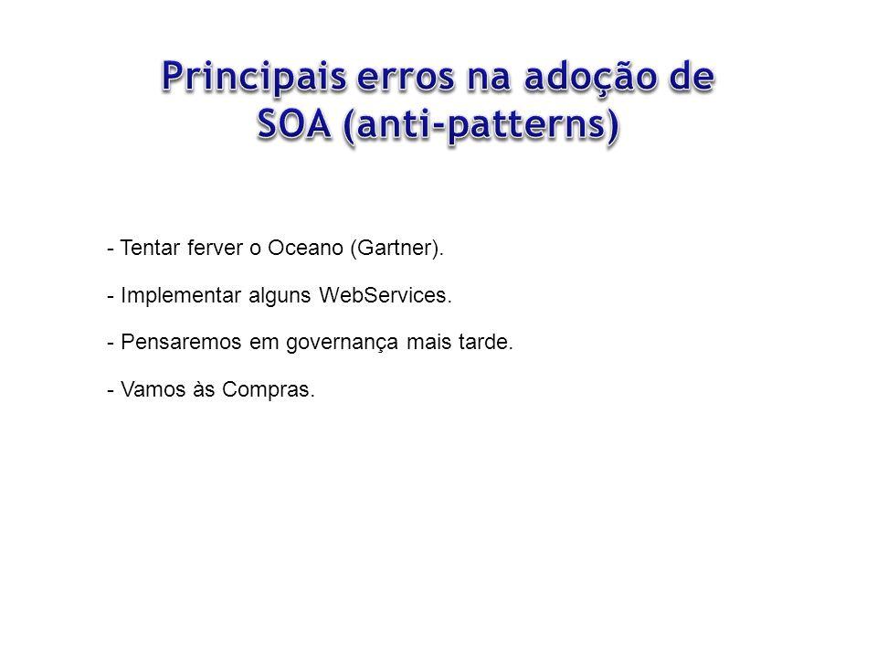 Principais erros na adoção de SOA (anti-patterns)