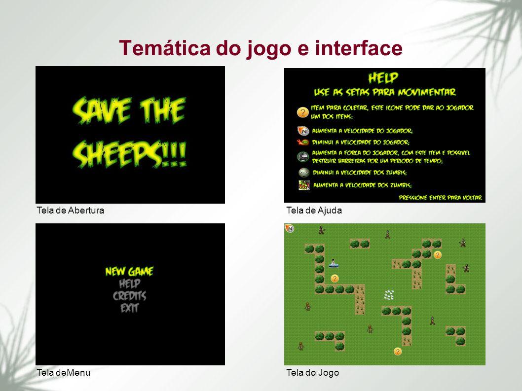 Temática do jogo e interface