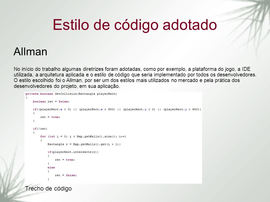 Estilo de código adotado